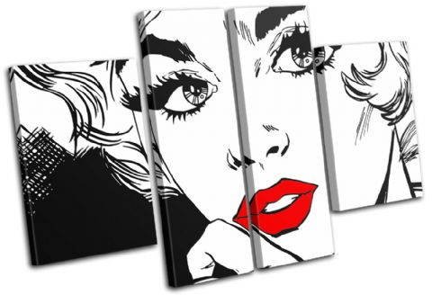Sexy Popart Lips Illustration - 13-1268(00B)-MP17-LO